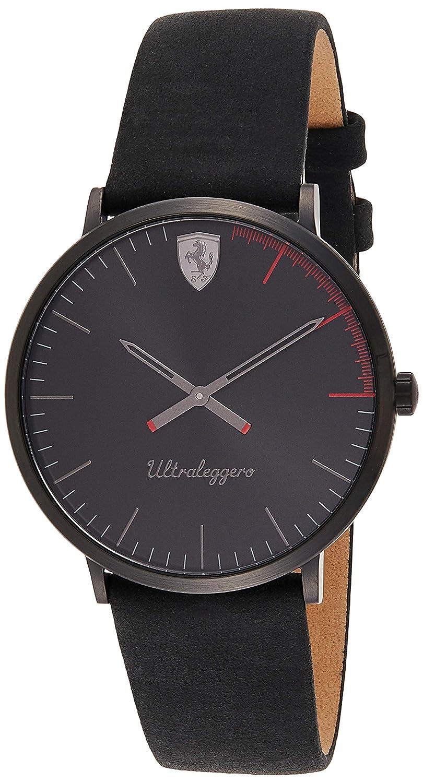 Ferrari Men s Red Rev Quartz Watch with Silicone Strap, Black, 21 Model 830495