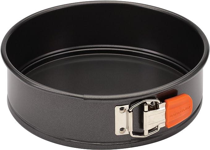 Rachael Ray 57814 Oven Lovin' Nonstick Bakeware Springform Baking Pan With Grips / Nonstick Springform Cake Pan With Grips / Nonstick Cheesecake Pan With Grips, Round - 9 Inch, Gray