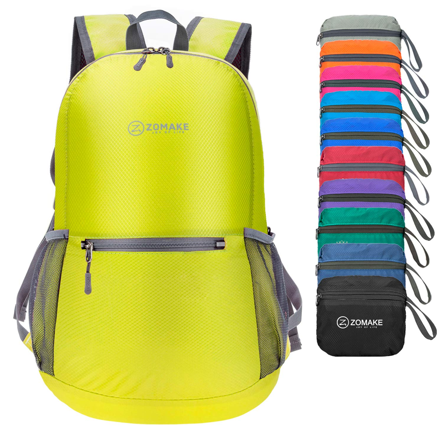 ZOMAKE Ultra Lightweight Foldable Backpack Water Resistant Hiking Daypack,  Unisex Small Rucksack for Travel   1b8a6f7dc2