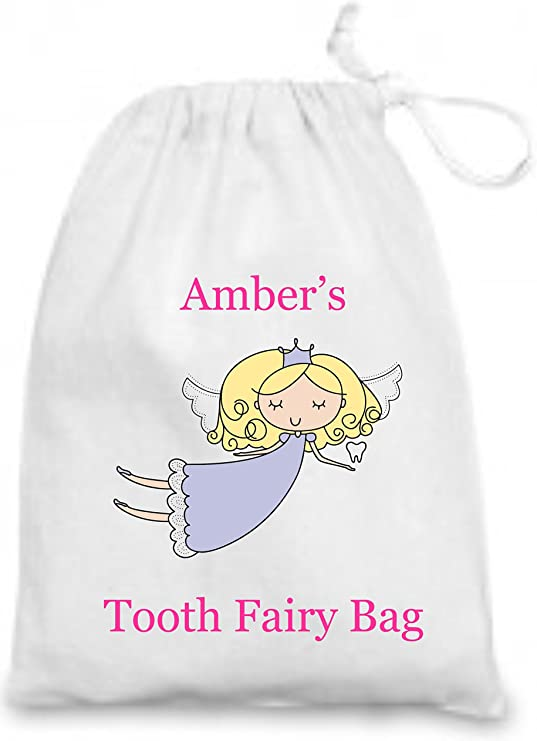 Personalised Tooth Fairy Bag by Mayzie Designs/® Ideal Keepsake//Gift XS 10x14cm