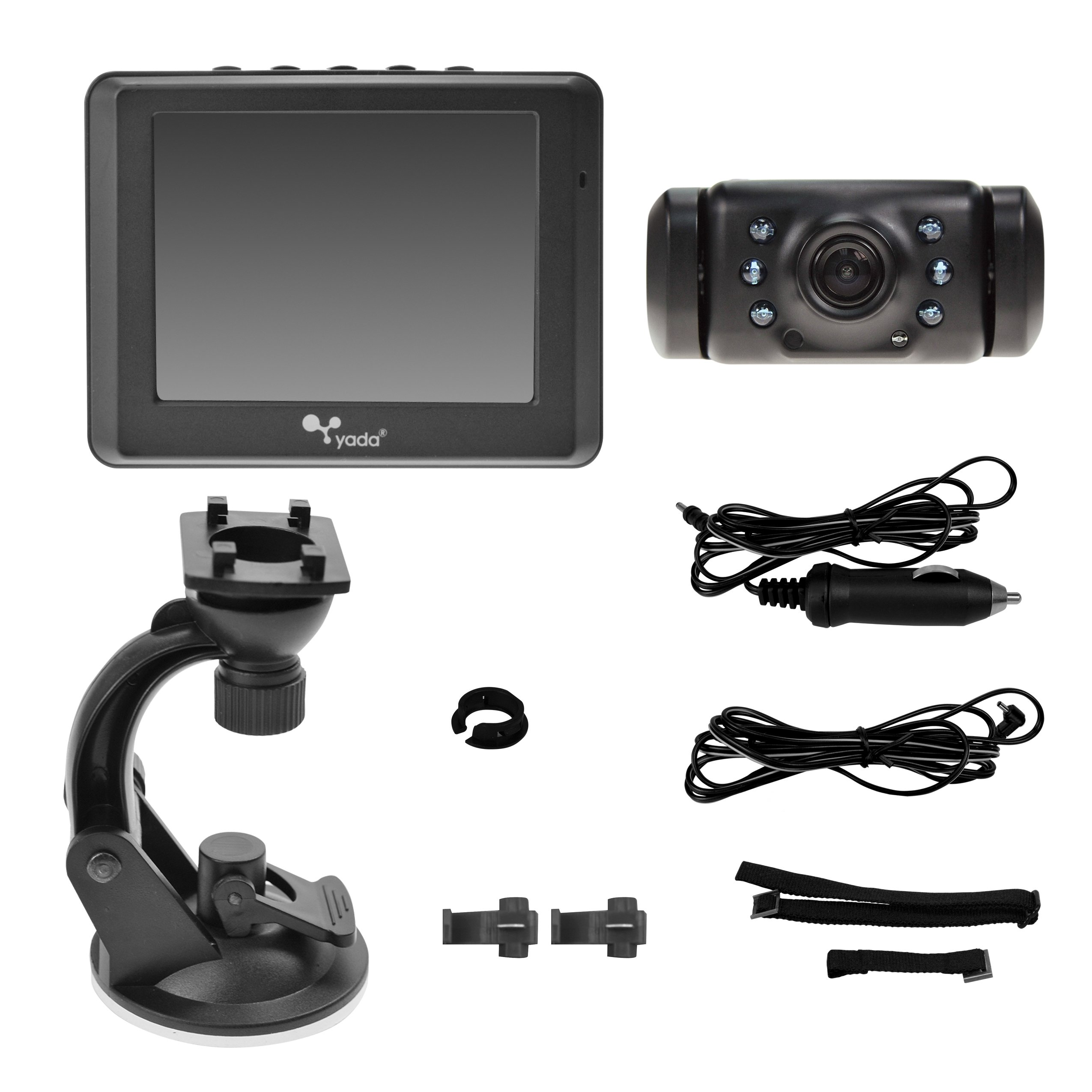 Yada (BT53872M-2) Matte Black Digital Wireless Backup Camera with 3.5'' Dash Monitor by Yada