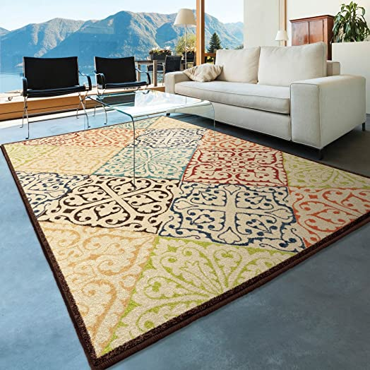 Orian Rugs Walker Multi 5 2 x 7 6