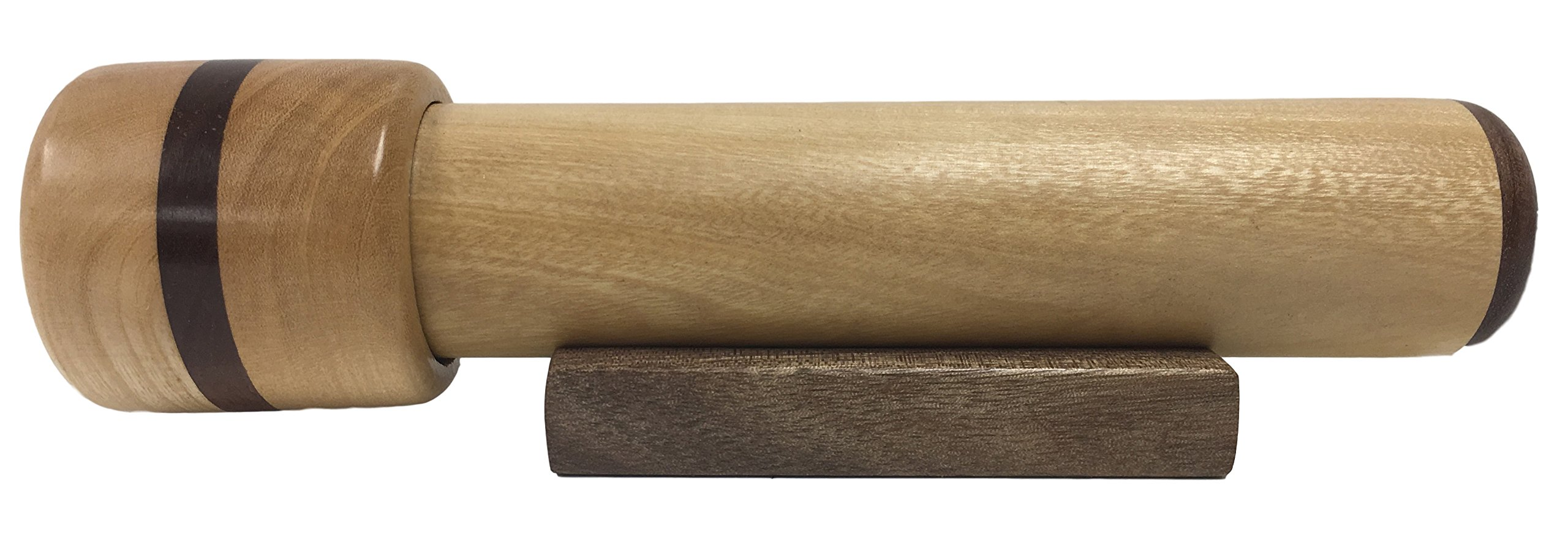 N & J Kaleidoscope in Solid Jalneem Wood with Walnut Accents, 7 3/4 Inches, Beaded Turning Chamber, Gift Idea!