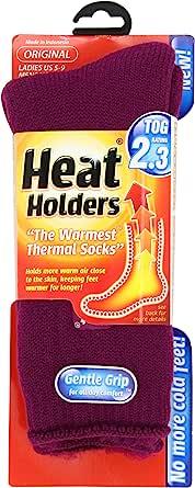 Heat Holders Thermal Socks, Women's Original, US Shoe Size 5-9, Deep Fuchsia