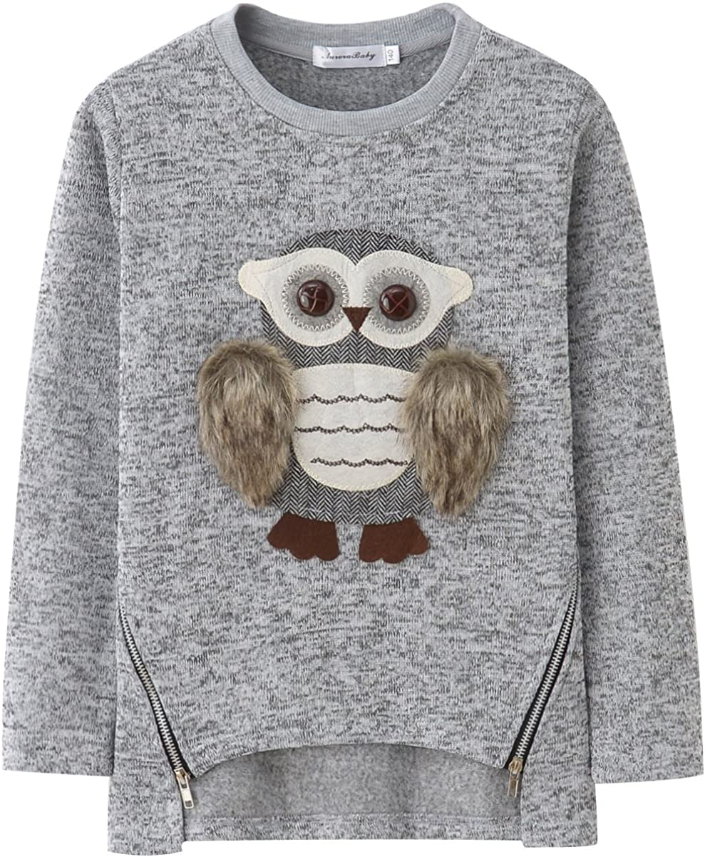 Sweatshirts for Girls Kids Hoodies Hooded Pullover Fuzzy Cute Owl: Clothing