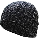 Heather Color Thick Cable Knit Beanie Skull Cap Unisex Winter Hat