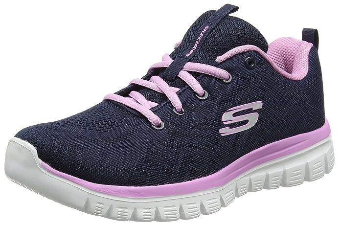 Skechers Graceful – Get Connected Sneakers Damen Blau (Navy/Pink)