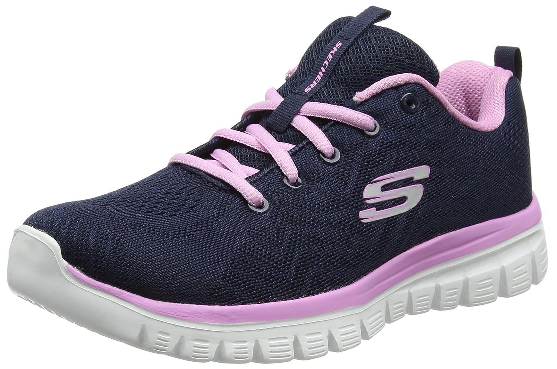 Skechers Graceful-Get Connected, Zapatillas para Mujer 37 EU|Azul (Navy/Pink)