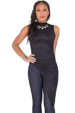 d815c421507 Poetic Justice Curvy Women s Black Asymmetrical Sleeveless Mock Turtleneck  Tunic Size S Black