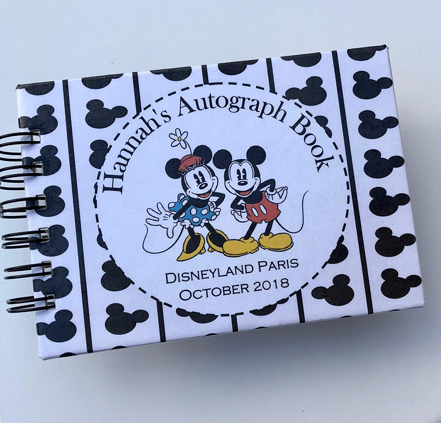 Disney Autograph Book Personalised Christmas Mickey Mouse Disneyland or World