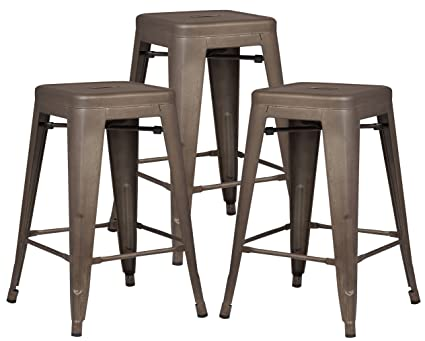 Amazoncom Poly And Bark Trattoria 24 Counter Height Stool In