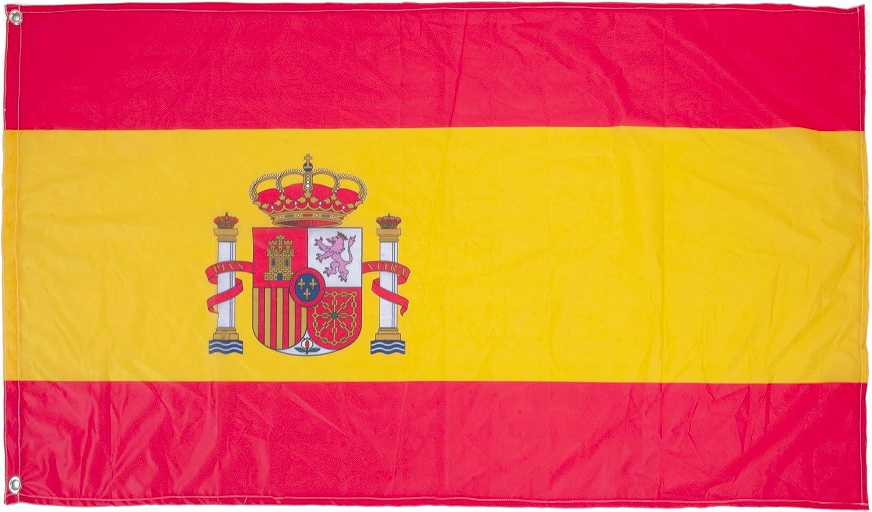 Oedim Bandera de España 85x150cm | Reforzada y con Pespuntes | Bandera de España con 2 Ojales Metálicos y Resistente al Agua: Amazon.es: Hogar