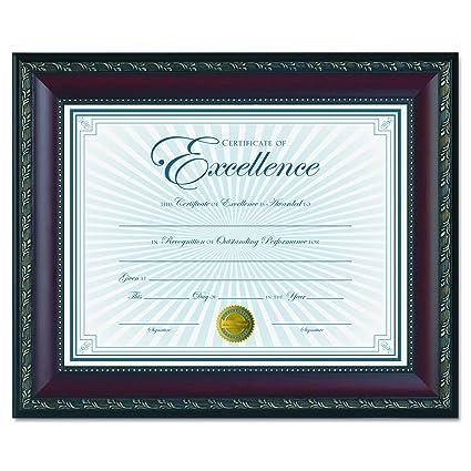 Amazon.com: Dax World Class Document Frame with Certificate, Walnut ...