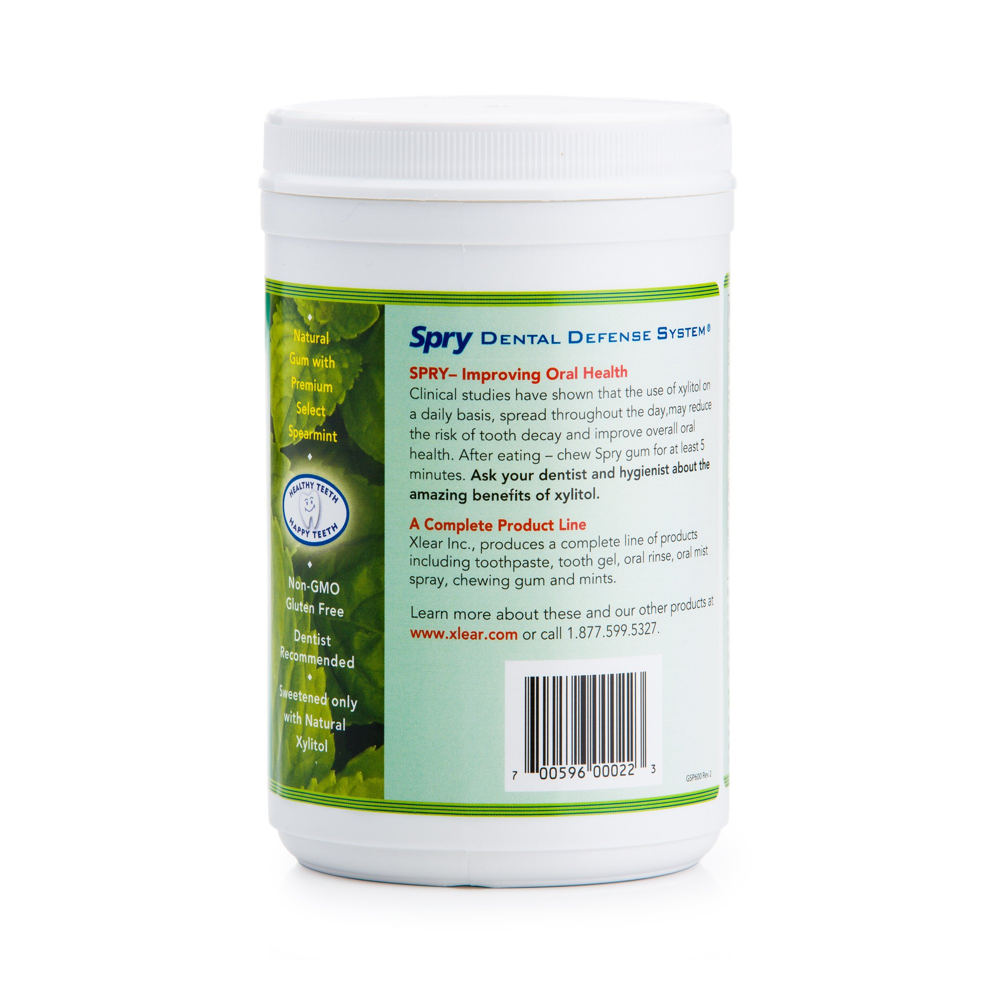 Spry 600ct Spearmint Xylitol Gum 3-PACK SAVINGS!!! by Spry (Image #3)