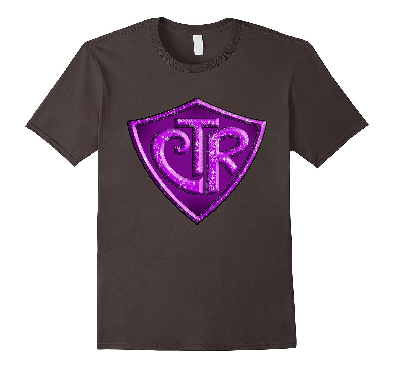 CTR - Choose The Right LDS Mormon T-Shirt - Purple Glitter-FL