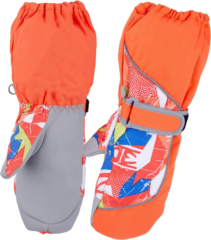 Guanti Invernale da Sci per Bambino Bambina da Ciclismo Sci Snowboard Azarxis Guanti da Nave per Bambini