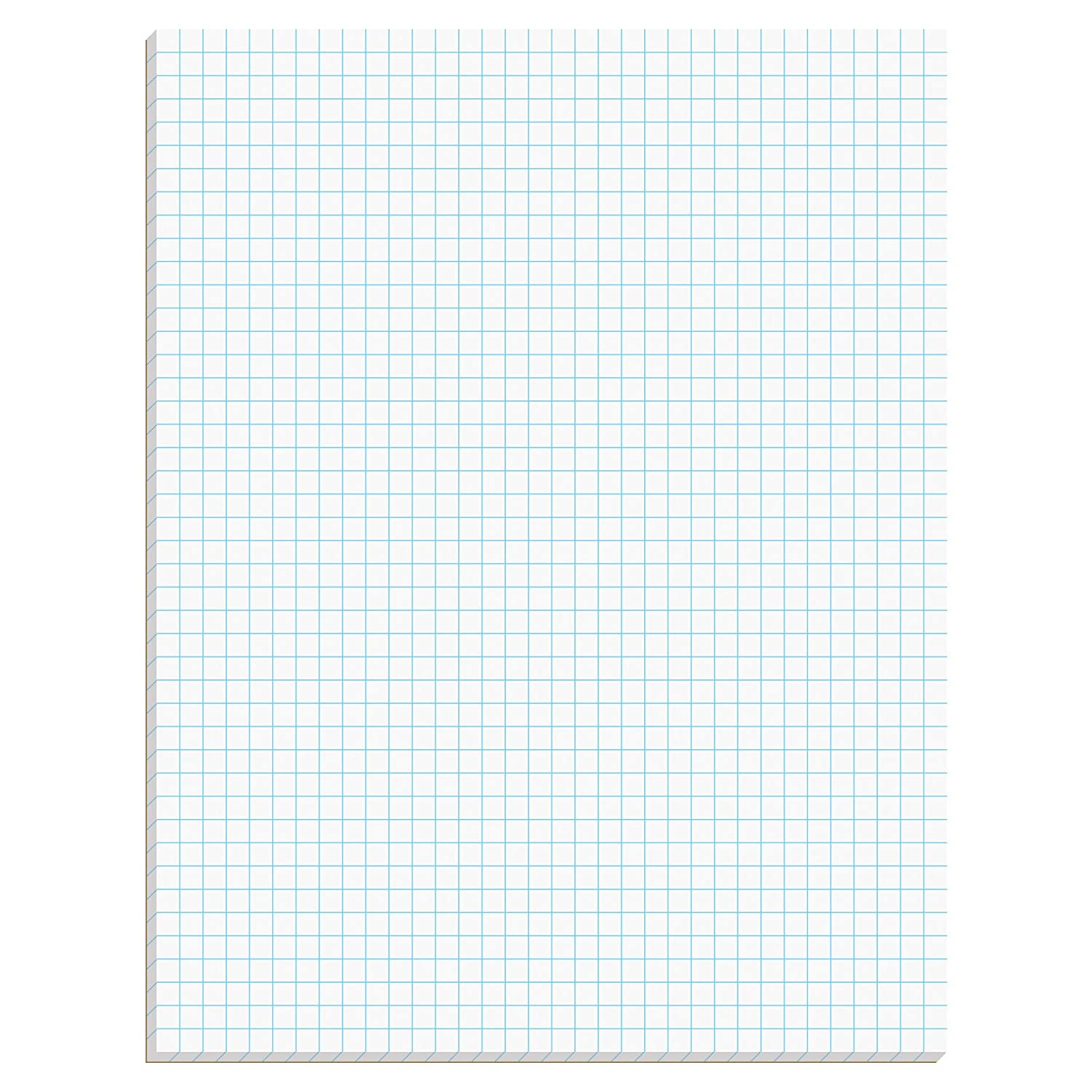 TOPS Quadrille Pad, 8 5 x 11 Inches, 15 Pound Stock, 50 Sheets per Pad, 6  Pads per Pack, White (99522)