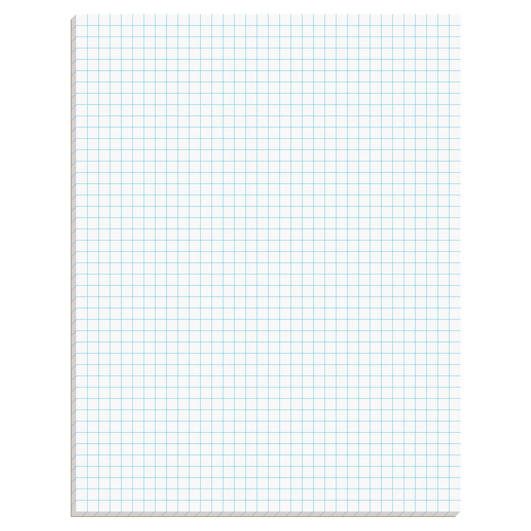 TOPS Quadrille Pad, Gum-Top, 8-1/2 x 11 Inches, Quad Rule (4 x 4), White Paper, 50 Sheets per Pad (33140)