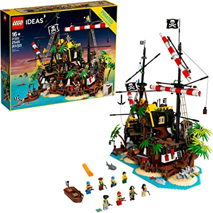 LEGO Ideas Pirates of Barracuda Bay 21322 Building Kit, Cool Pirate Shipwreck Model with Pirate Action Figures for Play and Display