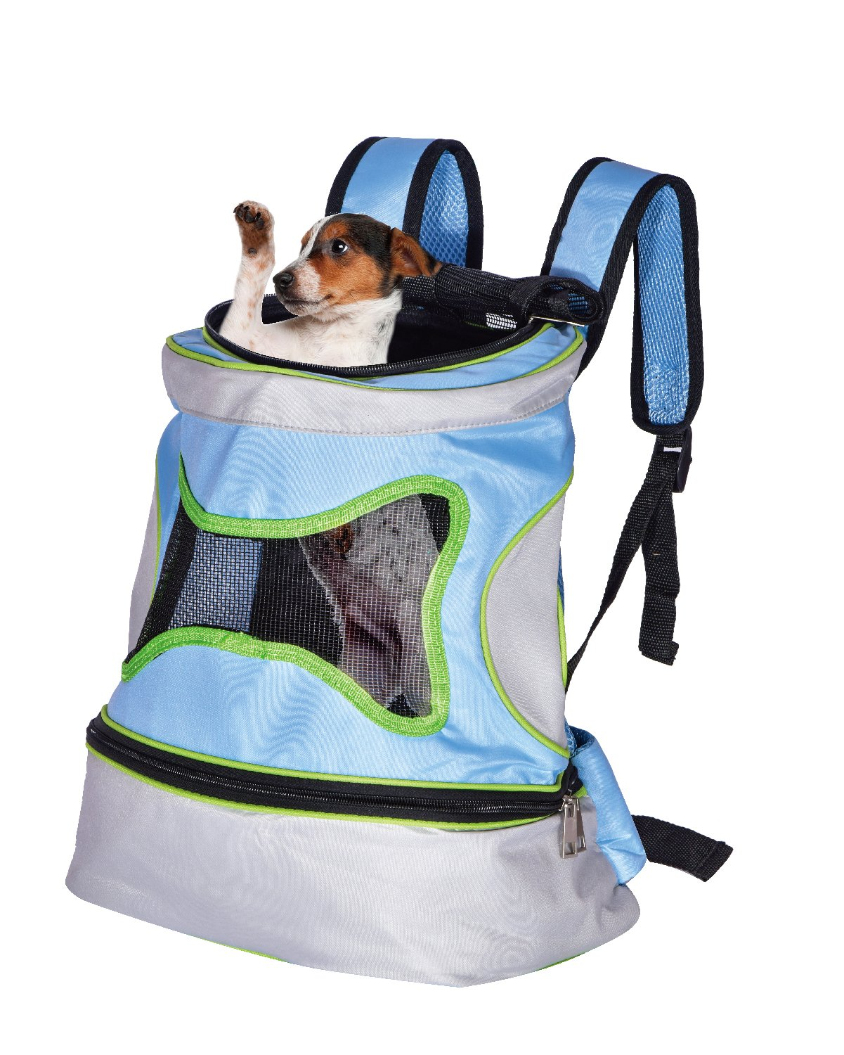Comfortable Dogs Cats Small Animals Carriers Backpack for Walking Biking Hiking Traveling,Blue
