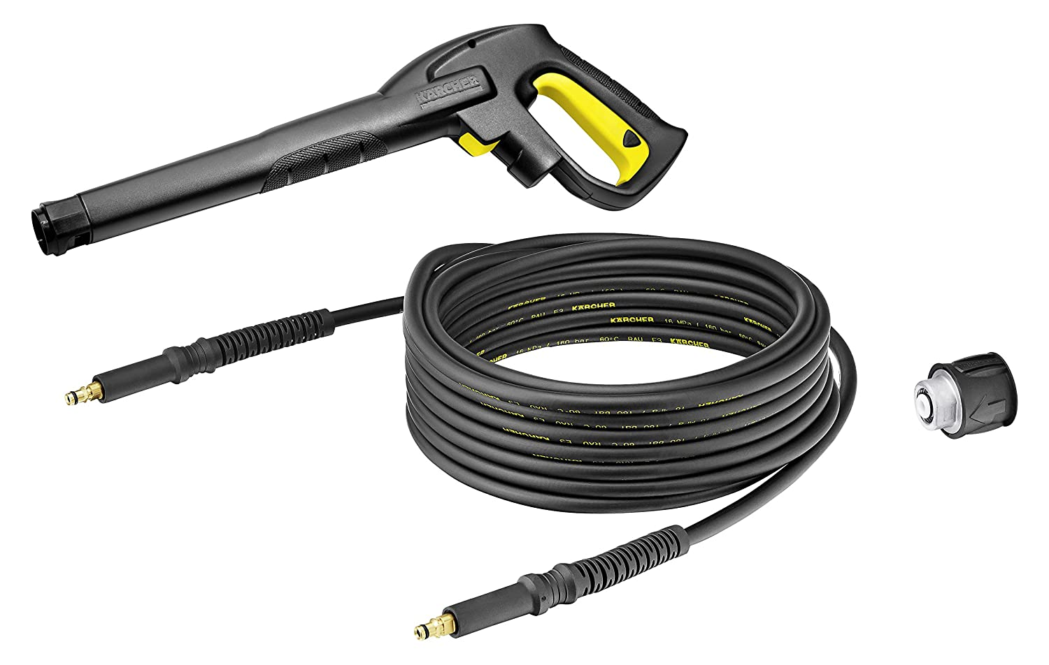 Karcher 2.643-910.0 Archer Trigger Gun and 25Ft Replacement Hose Kit, Black