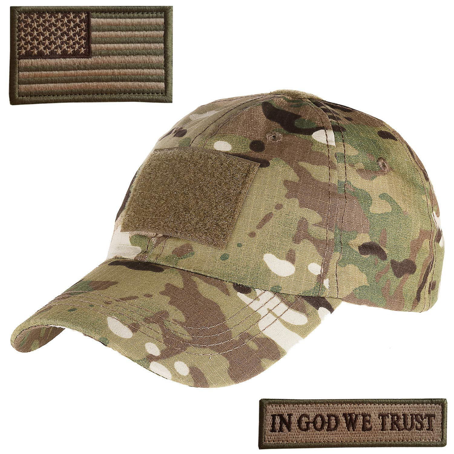 Galleon - Lightbird Multicam Tactical Hat With 2 Pieces Military Patches 9f4c392785e
