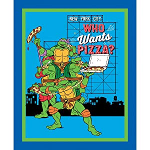 Teenage Mutant Ninja Turtles Who Wants Pizza Fabric Sold by the Panel
