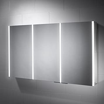 1200 X 700 Sienna LED Illuminated Cabinet Bathroom Mirror With Built In Shaver Socket And