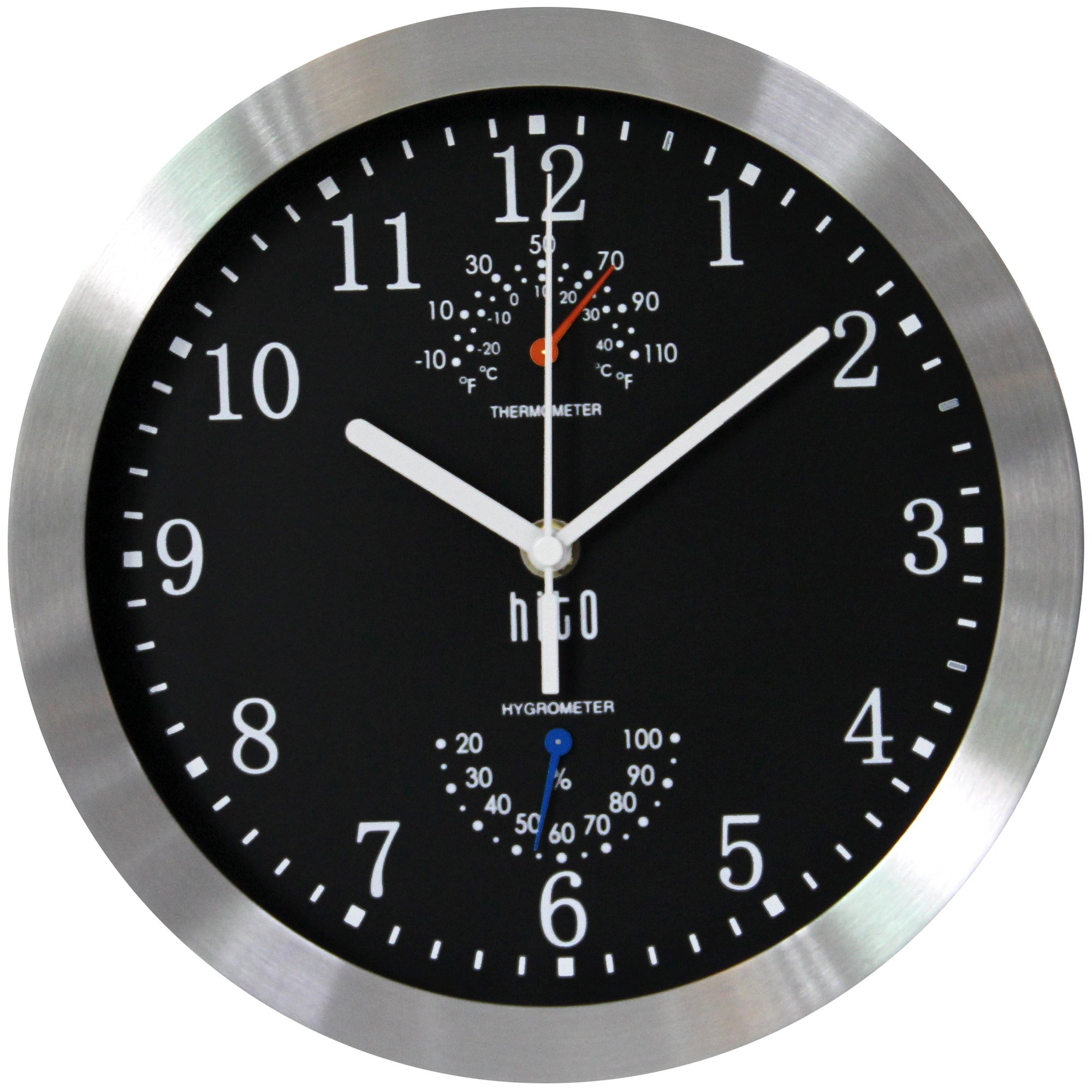Amazon Hito Silent Non Ticking Wall Clock Aluminum Frame Glass