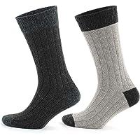 GoWith 2'li Topuk Burun Renkli Alpaka Yünlü Destekli Ön Yıkamalı Kışlık Çorap 3096