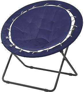 Urban Shop Bungee Saucer Chair, Navy