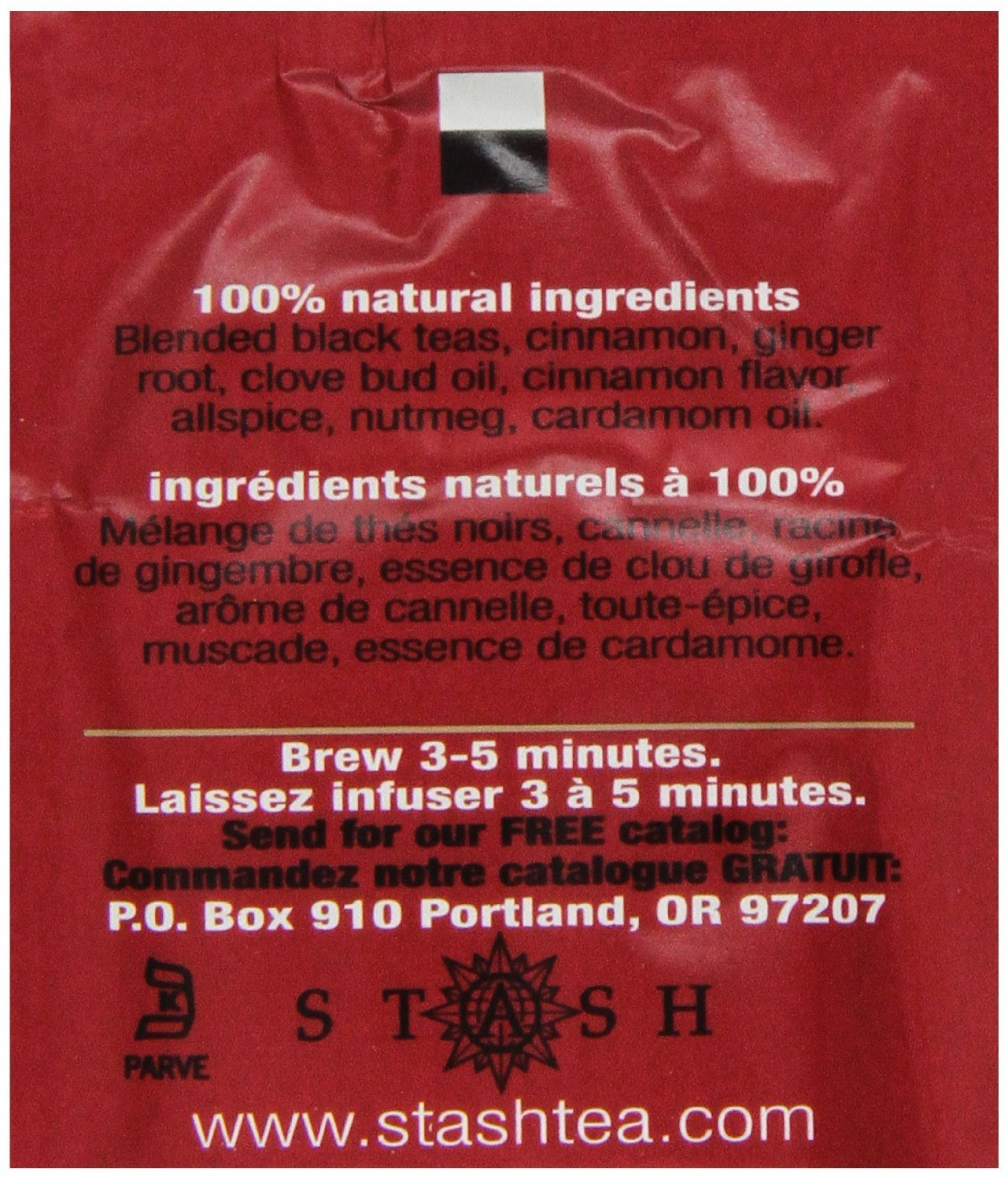 Stash Tea Double Spice Chai Black Tea, 10 Count Tea Bags in Foil (Pack of 12), (packaging may vary) by Stash Tea (Image #5)