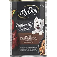 MY DOG Naturally Crafted Wet Dog Food Kangaroo 400g Can, 24 Pack, Adult, Small/Medium