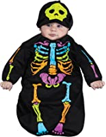 UHC Skelebaby Skeleton Outfit Bunting Child Fancy Dress Halloween Costume