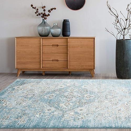 4620-Distressed-Blue-3'11x5'3-Area-Rug-Carpet-Large-New