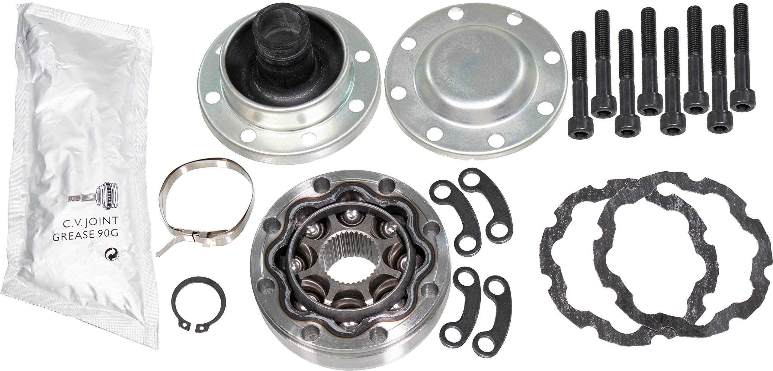 APDTY 043417 Driveshaft Propeller Shaft CV Joint Kit Fits 2007-2016 Jeep Wrangler Front or Rear With 8-Bolt Flange (Allows Repair Of The 8-Bolt Driveshaft Instead Of Total Replacement)