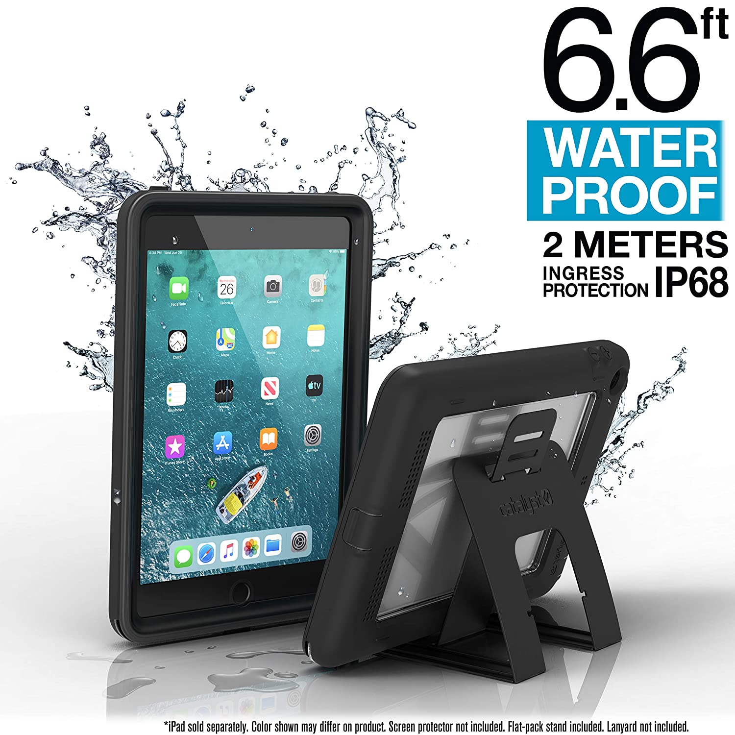 iPad Mini 4 Waterproof Case Shockproof by Catalyst, High Touch Sensitivity ID, Multi Position Stand, Military Grade Premium Quality Material, Stealth ...