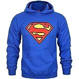 Superman - Felpa con Cappuccio e Logo Uomo