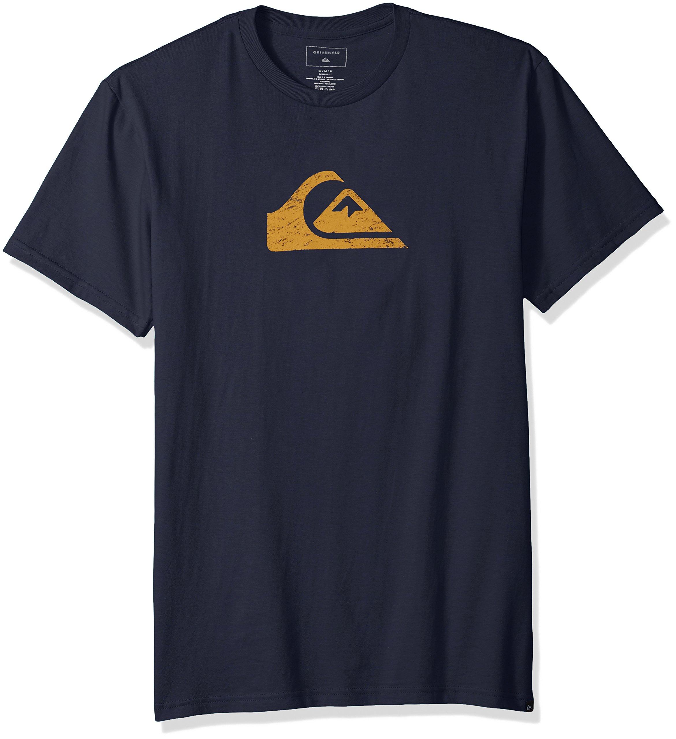 Quiksilver Men's Comp Logo Tee Shirt, Blue Nights, S
