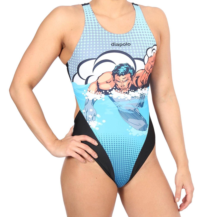 Diapolo Swimmer Superheroes Badeanzug Comics Kollektion für Schwimmen Synchronschwimmen Wasserball Thriathlon