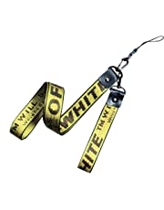 686362904b NCANGU Off White Yellow Industrial Belt Photo Camera Strap Lanyard Set