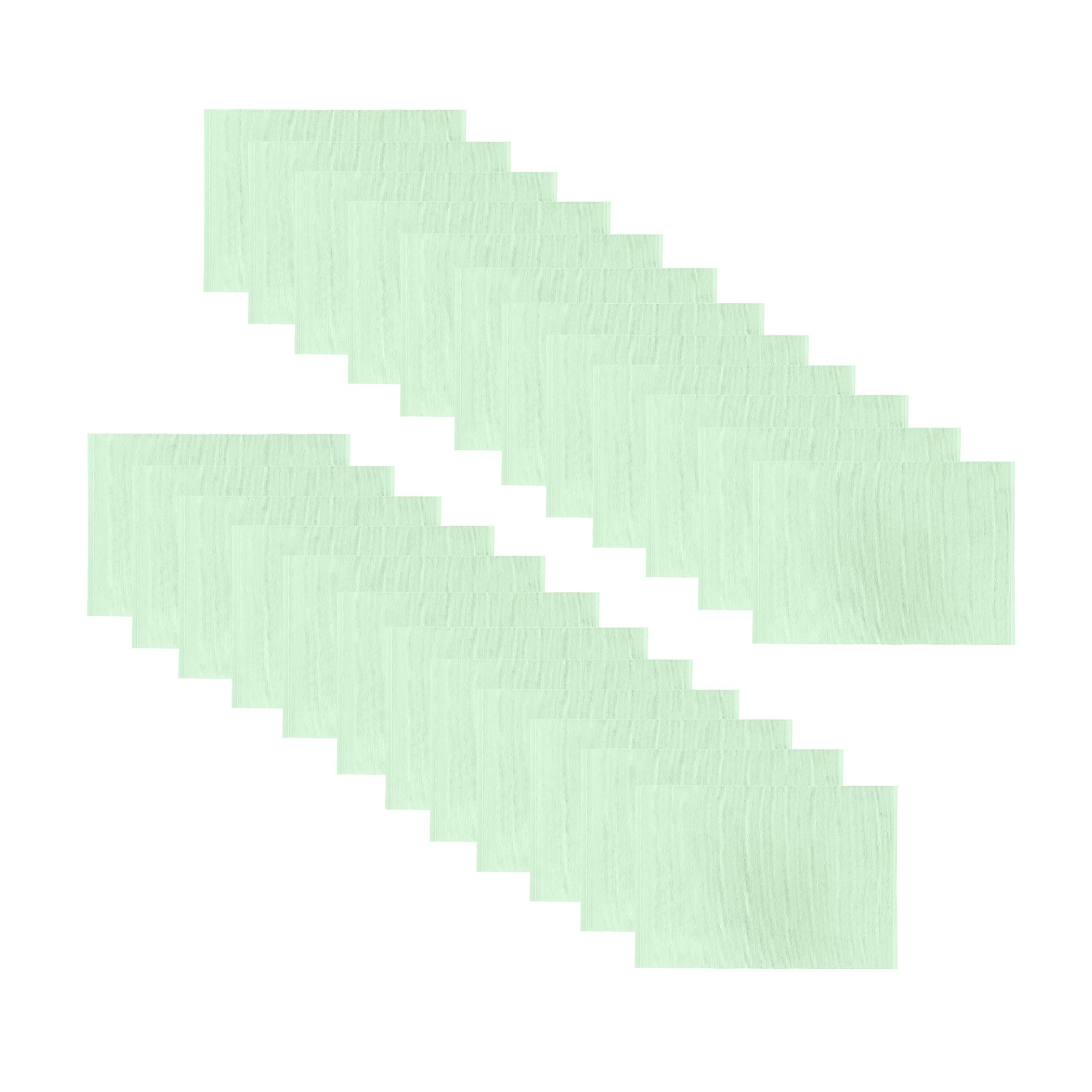 Elrene Home Fashions Everyday Cotton Ribbed Placemat Machine Washable, 13''x19'' (Set of 24), Light Green by Elrene