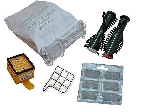 12 Staubsaugerbeutel Premium Microvlies 1 Hygienefilter 1 Motorschutzfilter 2 x Duft Bürsten EB 350 passend Vorwerk Kobold 13