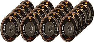 "20 Angle Grinder Flap Discs 4-1/2"" Flat 80 Grit 7/8"""