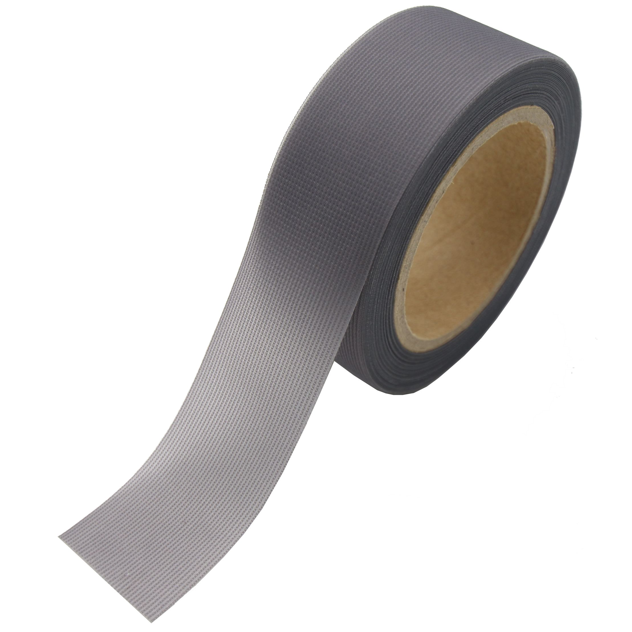 SUNDELY Dark Grey Color Hot Melt Seam Sealing Tape Roll 0.98'' X 16' (25mm X 5m) with 3 Layer for Waterproof Fabrics Sportswear