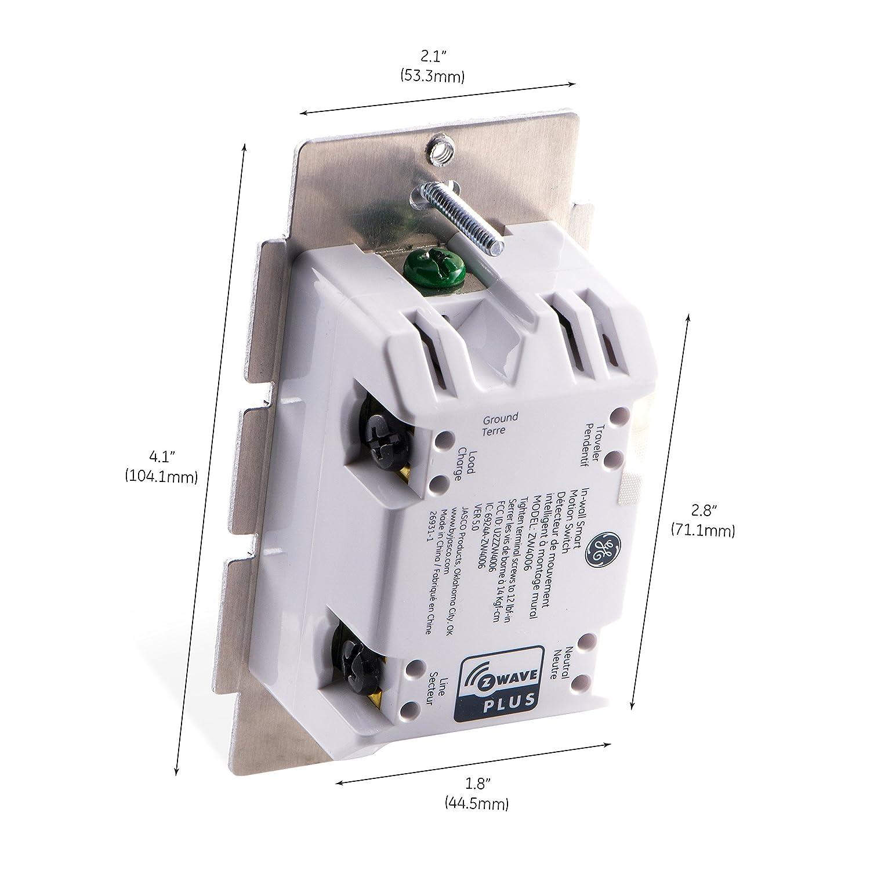 GE Z-Wave Plus Smart Lighting Control Motion Sensor Switch, On/Off ...