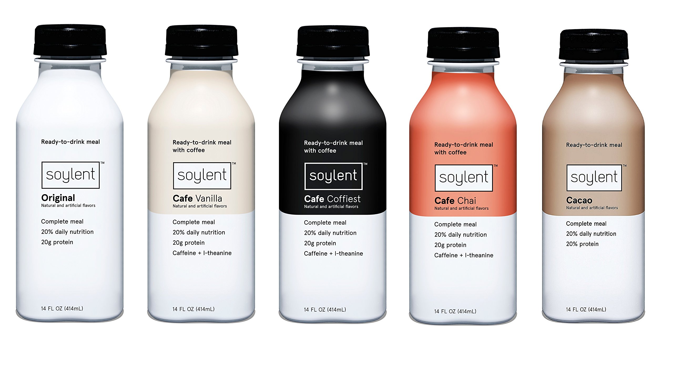 Soylent Meal Replacement Shake, 5 Flavor Variety Pack (Pack of 15)