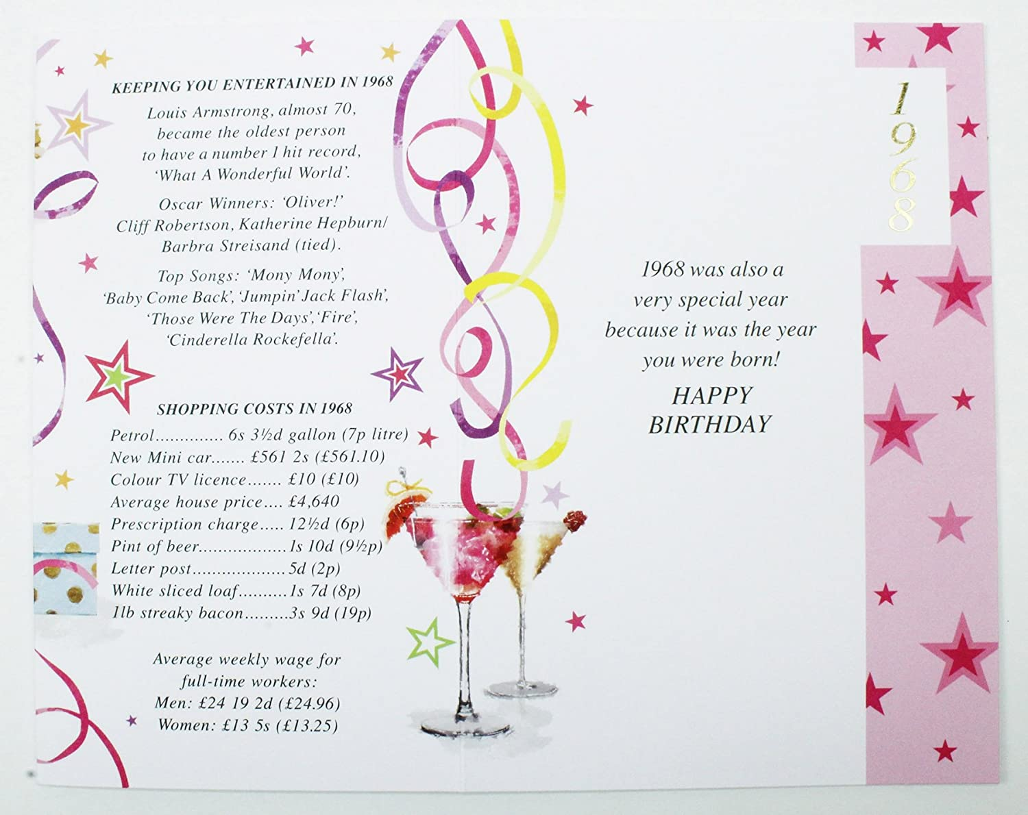 50 Today 1967 Special Year Born Happy Birthday Card Facts Quality