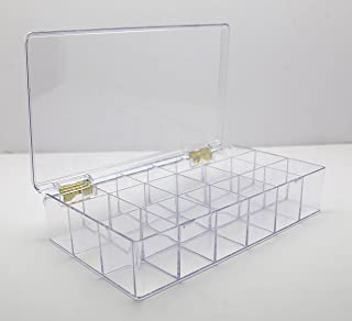 """product image for Clear 18 Compartment Storage Plastic Box 10 3/8"""" L x 6"""" W x 2"""" H - 1 Piece Per Pack"""