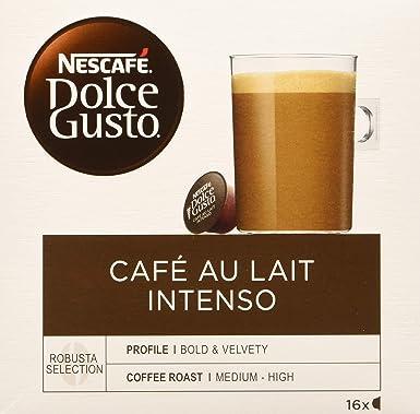 Nescafé Dolce Gusto - Café Con Leche Intenso, 16 cápsulas x 10 g ...